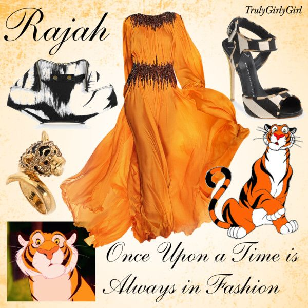 Disney Style: Rajah, created by trulygirlygirl on Polyvore