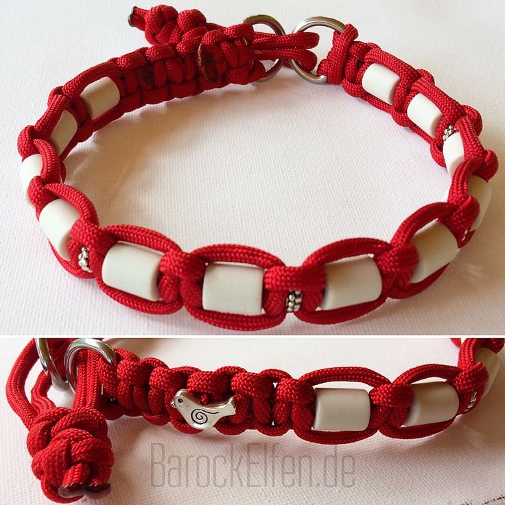 Paracord-Halsband mit EM-Keramik