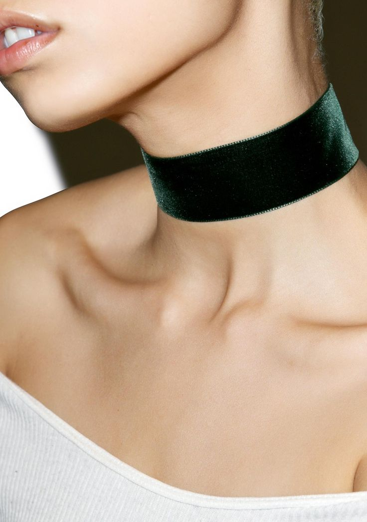 "Regal Rose Moss Wide Velvet Choker is gunna hold onto you for dear life, bb. This ultra plush dark green velvet choker features a 1.45"" thick band, silver hardware, and adjustable lobster clasp closure."