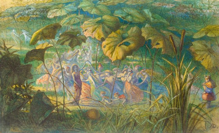 In Fairy Land- An Elfin Dance :: Richard Doyle - Fantasy in art and painting