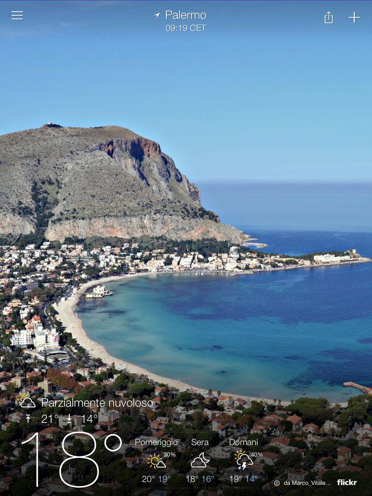 Vista del golfo da Monte Pellegrino