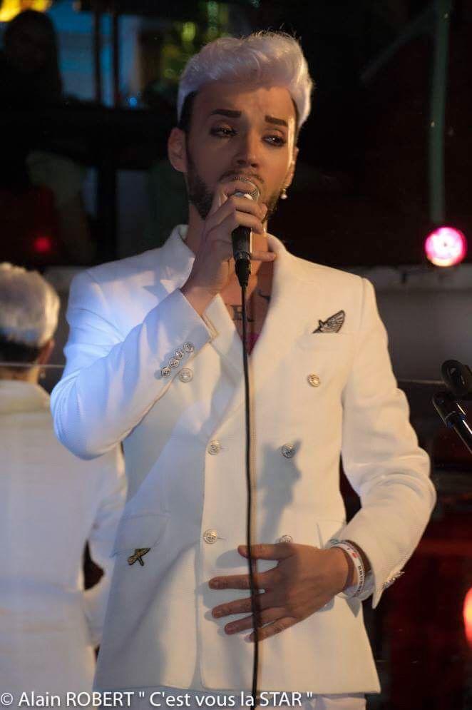 Bruno Moneroe (French Singer) 2018 . Drama King . Paris