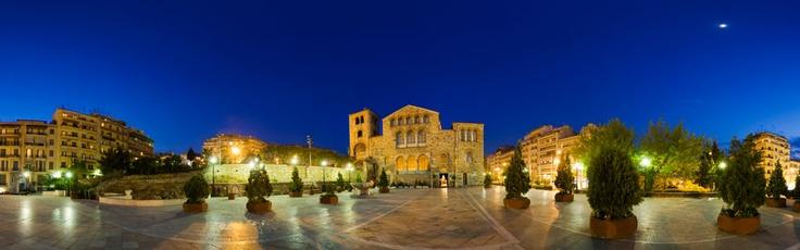 Byzantine-Orthodox church of St Dimitri ,jewel of Byzantine architecture (Thessaloniki-Greece) via www.Thessaloniki.360.com
