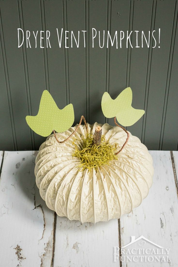 Pumpkin stems for crafts - Adorable Dryer Vent Pumpkins Just Need Dryer Vent Hose Spray Paint And A
