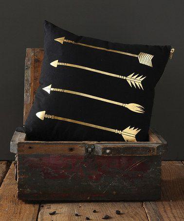 Another great find on #zulily! Gold Arrow Pillow #zulilyfinds