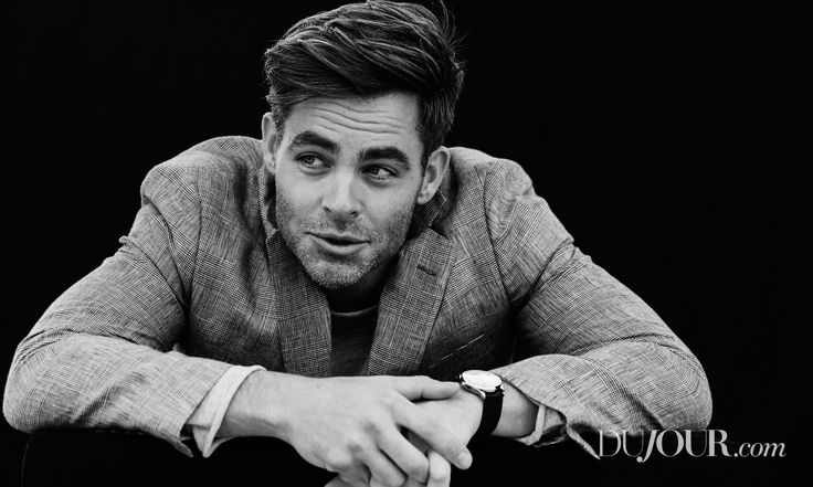 """""""The Finest Hours,"""" """"Star Trek,"""" and """"Wonder Woman"""" star Chris Pine in Brooks Brothers, Bassike, and Jaeger-LeCoultre."""