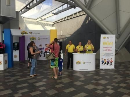Wiggles promotional stands includes tables, plinths, banner stands and SperWall.