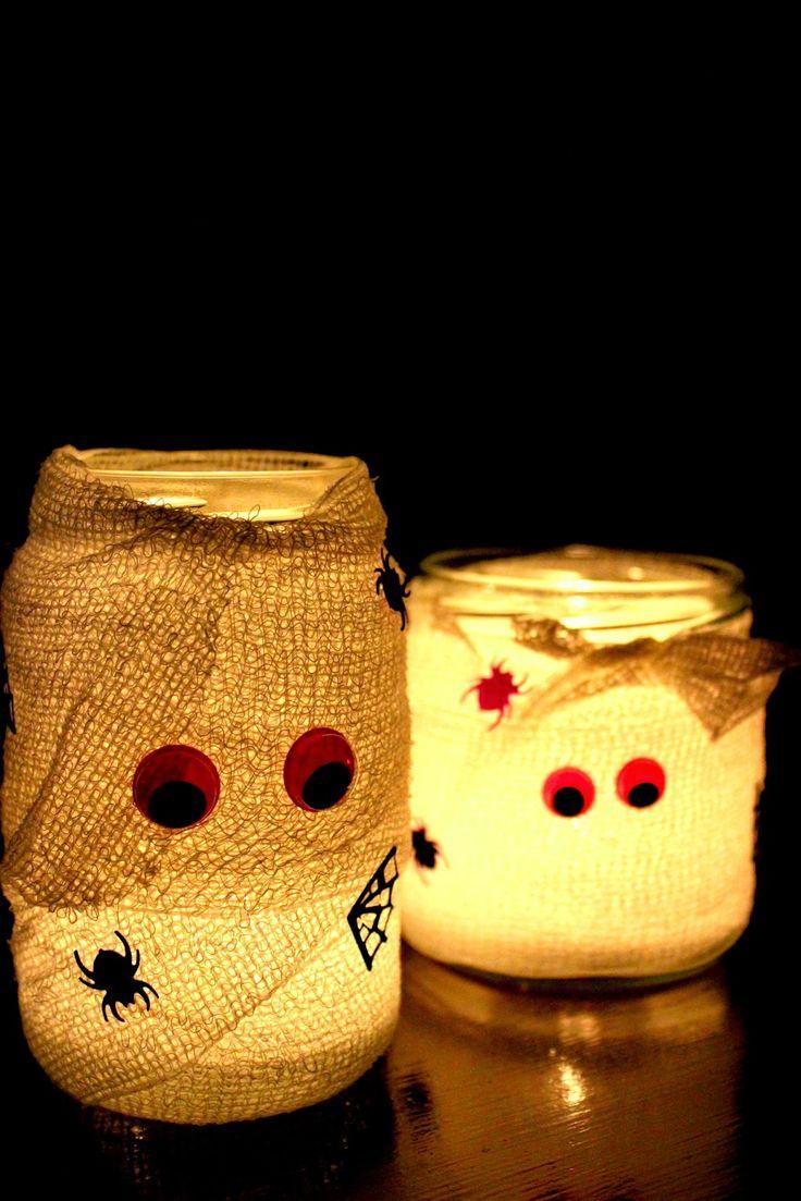 DIY Grusel-Teelichter für Halloween