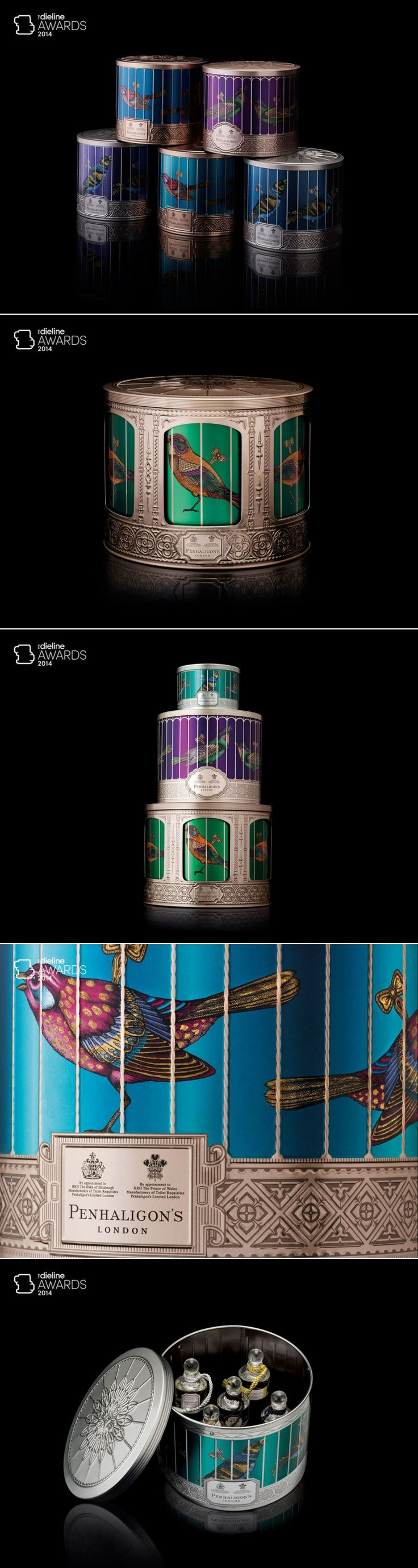 The Dieline Awards 2014: Health & Beauty, 1st Place – Penhaligon's Musical Christmas Gift Collection — The Dieline | Packaging & Branding Design