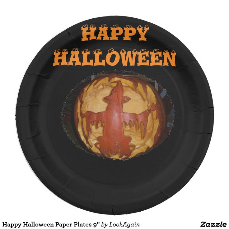 Happy Halloween Paper Plates 9\   sc 1 st  Pinterest & 10 best PAPER PLATES CUSTOM DESIGNS GREAT FOR PARTIES images on ...