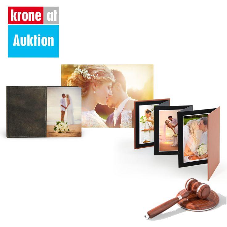 Hochzeitspaket Premium: Halten Sie Ihre Erinnerungen am Hochzeitstag mit diesem exklusiven Paket bestehend aus einem Premium-Fotobuch, edlem Fotodruck und stilvollem Foto-Album fest. Wenn Sie jetzt bei der Kronen Zeitung Online Auktion mitbieten, haben Sie dazu die Chanca das gesamte Paket um 50% günstiger zu erhalten.
