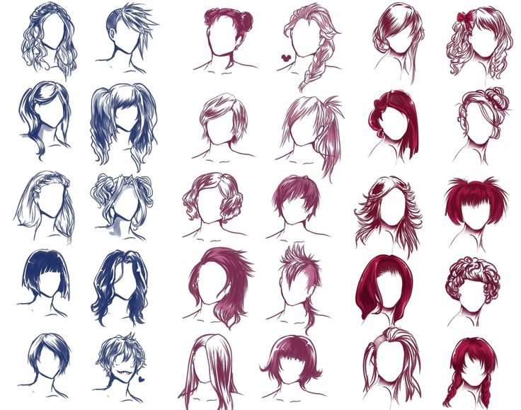 Best Art Inspiration Images On Pinterest Character Design - Barbie hair style drawing
