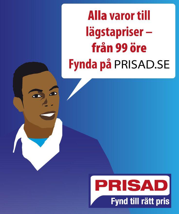 Prisad är en handelsplats med anslutna företag från hela Sverige. Genom att varorna levereras direkt från företagen finns det unika produkter och kvalitetsprodukter som är närmast omöjliga att köpa någon annanstans. Företagen har förbundit sig att ha sitt