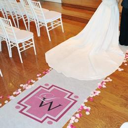 Our New Monogram Wedding Aisle Runner