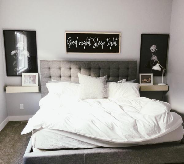 Good Night Sleep Tight Modern Wood Sign Farmhouse Chic Bathroom Farmhouse Style Bedrooms Home Decor Bedroom