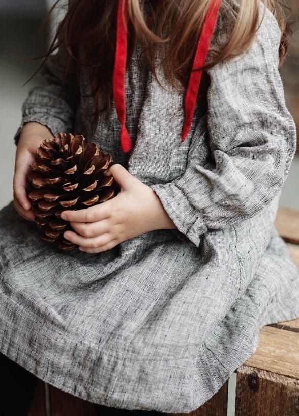 Handmade Linen Baby Dress | Lapetitealice on Etsy