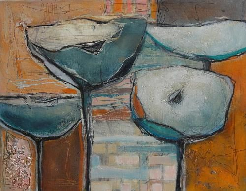 """Angela Fusenig, """"O.T:"""" Mit einem Klick auf """"Als Kunstkarte versenden"""" versenden Sie kostenlos dieses Werk Ihren Freunden und Bekannten."""