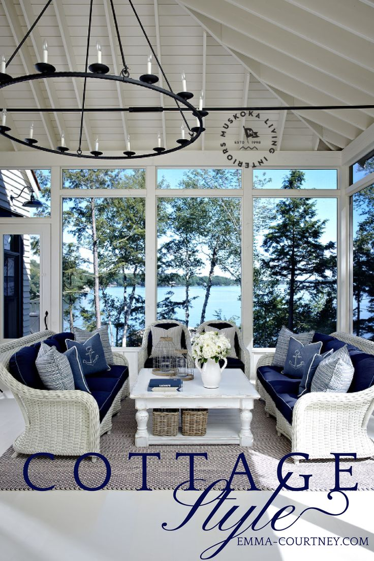 Cottages portray coastal decor with blues and whites, exposed beams and cathedral ceilings - a year round bliss.