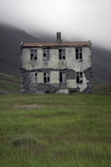 DERELICT HOMES - past lives, worn structures, landscape, memories, crumbling walls.