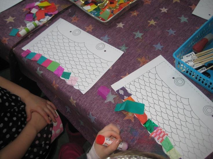 Koi Fish kite craft project