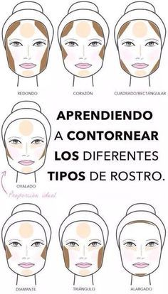 La manera correcta de contornear tu cara según su forma. | 14 Infográficos de belleza que toda chica en sus 20 necesita