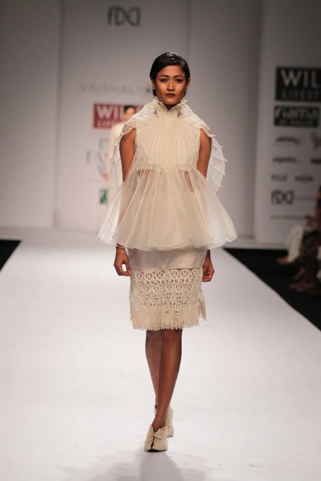Gauzy layers, woven silks and coded cotton - Vaishali S
