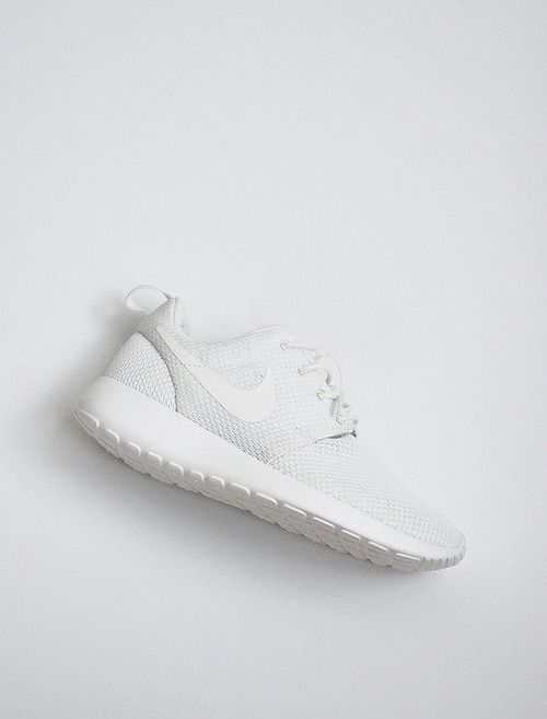 white and minimal trainers