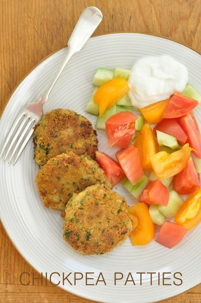 Easy Chickpea Patties - great as a light meal or as an appetizer!