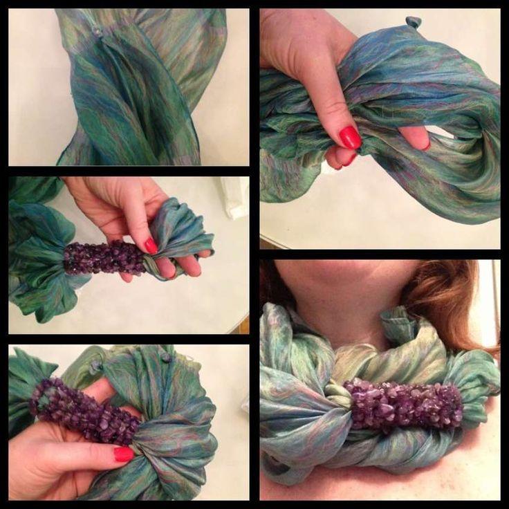 Riciclo creativo dei foulard - Foulard collana