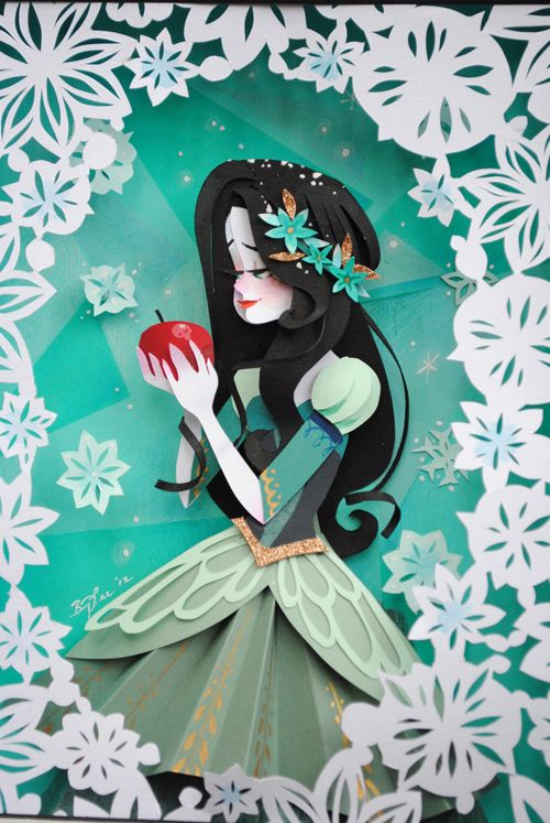 Paper Cutting - Branca de neve  Brittney Lee - Snow White