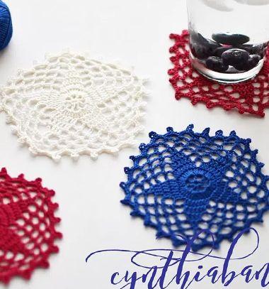 Crochet star coasters (free crochet pattern) // Horgolt csillagok poháralátétek (ingyenes horgolásminta) // Mindy - craft tutorial collection // #crafts #DIY #craftTutorial #tutorial #GasztroAjándék #EdibleGifts
