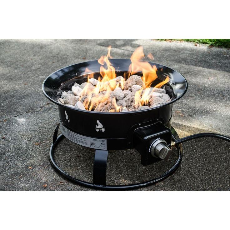 This is a portable fire pit that's built to go wherever you go. Add ambiance to a campsite or outdoor activity with this alternative to traditional labor intensive campfires.