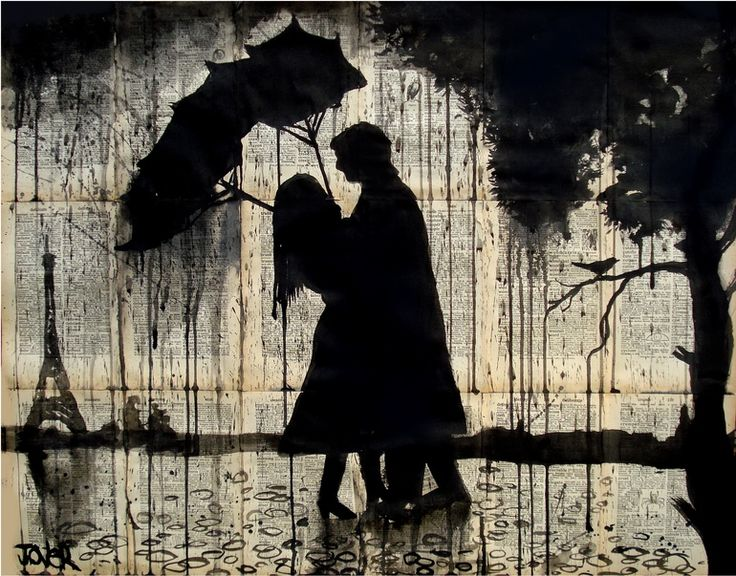 """Saatchi Online Artist: Loui Jover; Pen and Ink, 2013, Drawing """"Parisian love story (inside out)"""""""
