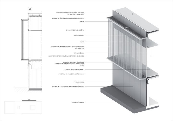 Image Result For Concrete Wall Section Axon Architecture Details Technical Architecture Diagram Architecture