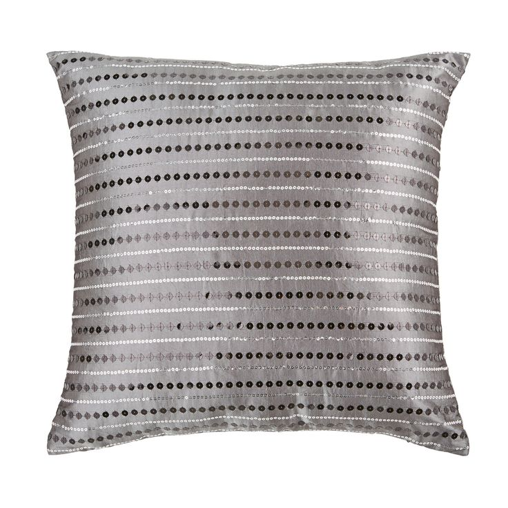 Featuring pretty sequins in a delightful pattern, the Halo Cushion in silver and grey will give an instant lift to your sofa or create an eye-catching look in the bedroom.  Price $20.