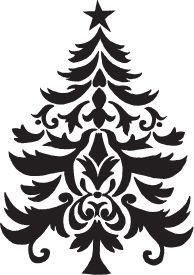 Flourish Christmas tree to try with Cricut