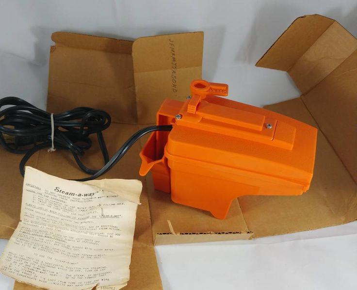 Vintage Handheld Electric Steamer Steam-a-way Plug in Steam Machine Made In U.S.A.