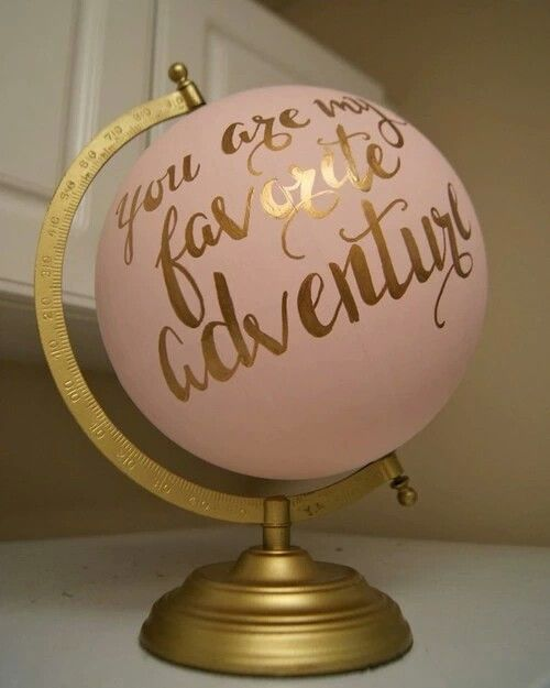 Spray the globe and use gold marker to decorate it! It simply turns the good ol boring globe into a fancy elegant decor. Tall about 360° change xD
