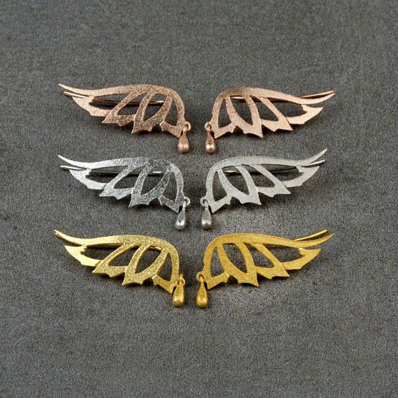 Πεταλούδα Ear ClimberEar σφαλιάρα Earring925 Sterling
