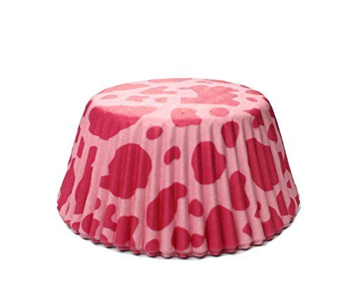 Hot Pink Cow Print Standard Size Cupcake Liners | 25 pieces