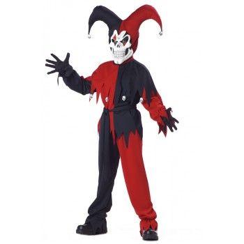 Kids Black Red Evil Jester Costume  sc 1 st  Pinterest & The 27 best BOYS COSTUMES images on Pinterest | Baby costumes ...