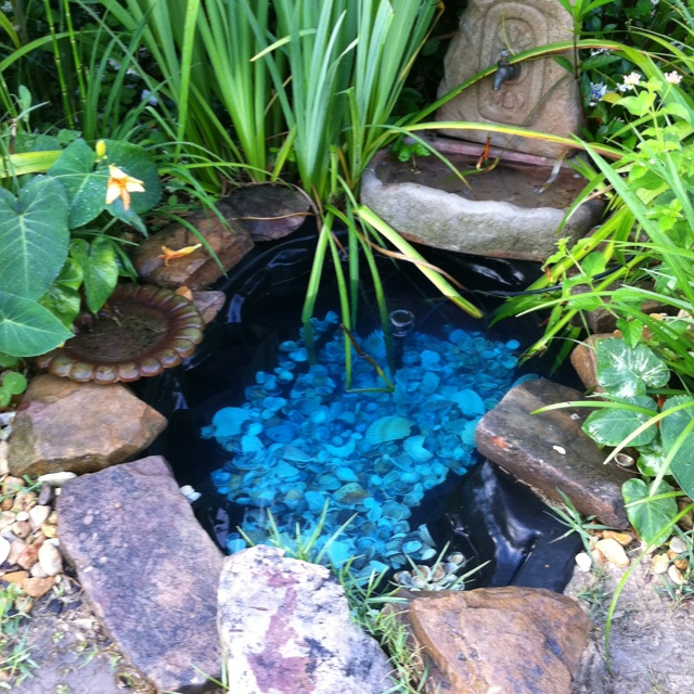 Pond With Shells To Create A Tranquil Feeling Outdoors