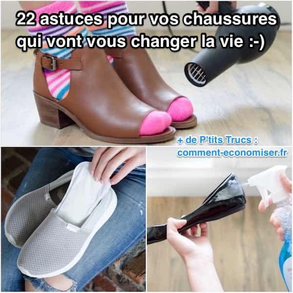 Nous avons sélectionné pour vous 22 astuces pour prendre soin de vos chaussures... ...mais aussi de vos pieds fatigués !  Découvrez l'astuce ici : http://www.comment-economiser.fr/22-astuces-pour-vos-chaussures-qui-vont-vous-changer-la-vie.html?utm_content=buffer155dd&utm_medium=social&utm_source=pinterest.com&utm_campaign=buffer