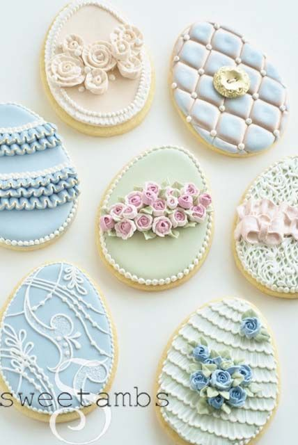 Pretty Easter cookies (Sweetambs).not that I could ever do this...