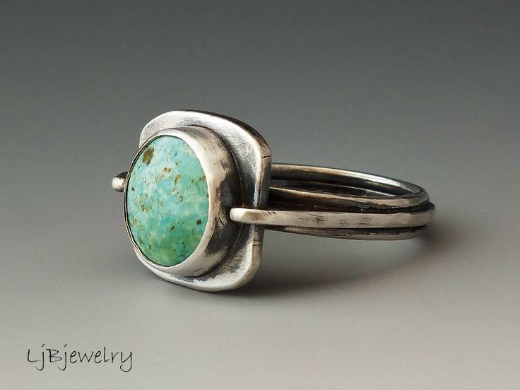 Burtis Blue Turquoise Ring ©by Laura Jane Bouton 1