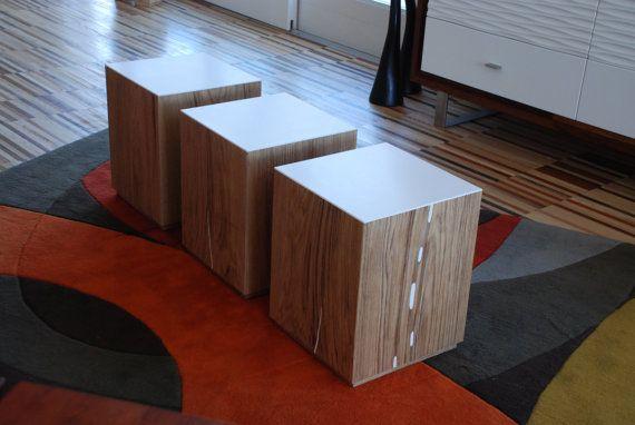 Tavolino da salotto seduta sgabello seduta di EbanisteriaCavallaro