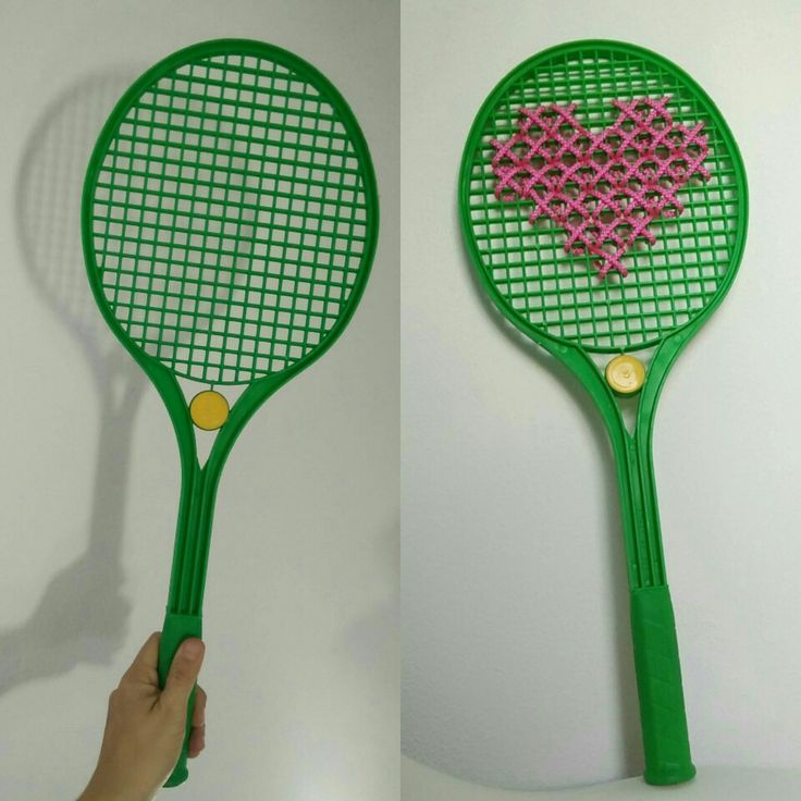 Old raquet new deco #heart #crossstitch #deco#raquet #recycling #recycledmaterial #handmadeshop