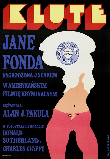 Klute - Alan J. Pakula (1971): Movie Posters, Polish Film, Polish Posters, Film Festivals, Picture-Black Posters, Graphics Design, Theatre Posters, Film Posters, Eye