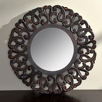 Round Curly Loop Mirror