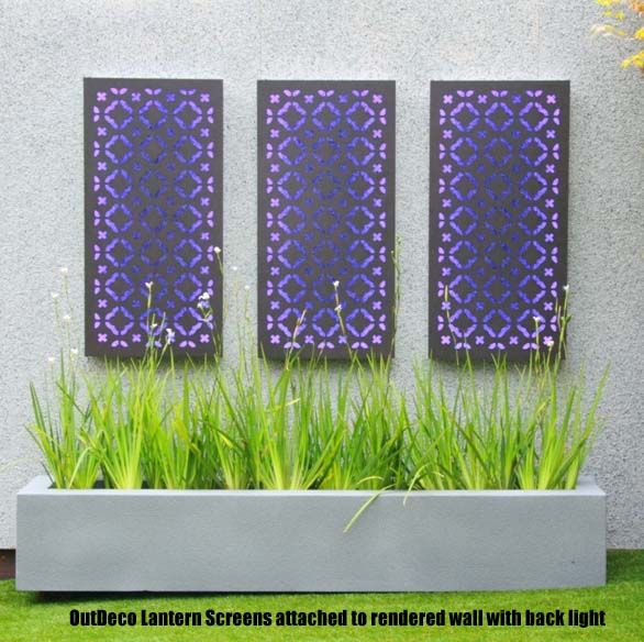 12 best images about laser cut metal screens and fire pits for Decorative privacy screen